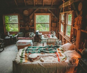 bedroom, cabin, and room image