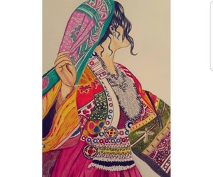 afghan, beauty, and draw image