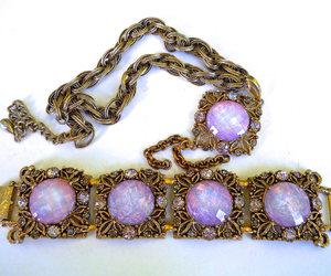 etsy, vitrail rhinestones, and vintage necklace image