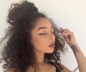 hair, eyeliner, and girl image