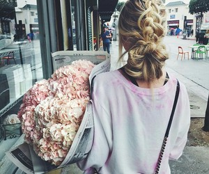 cabelo, follow me, and flores image