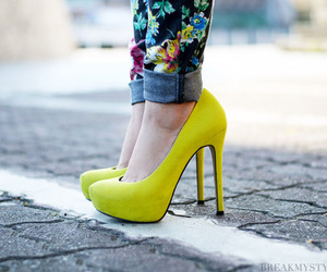 photography, sapatos, and shoes yellow image