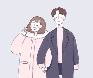 art, couple, and 94mlk image