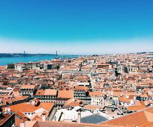 city, lisbon, and ocean image