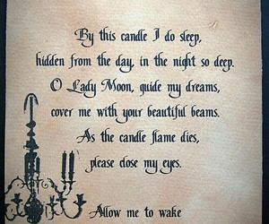spell, sleep, and witch image