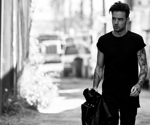 black and white, liam payne, and edit image