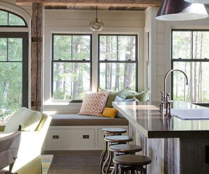 interior, interior design, and kitchen image