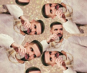 Drake, gold, and rapper image