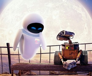 eve, wall-e, and love image