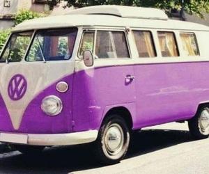 car, purple, and volkswagen image