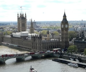 houses of parliament, london, and england image