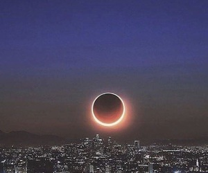 moon, eclipse, and city image