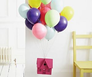 balloons, up, and house image