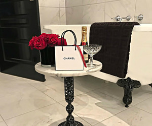 bath, chanel, and flowers image