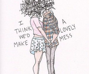 love, mess, and couple image
