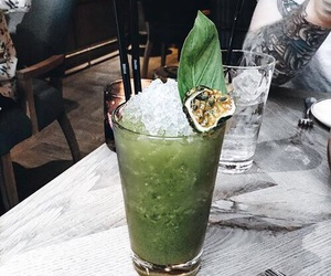 green, drink, and food image