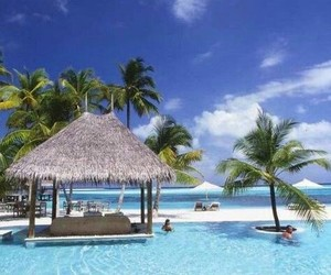 summer, Maldives, and beautiful image