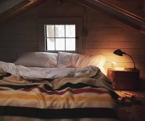 bed, comfort, and cozy image