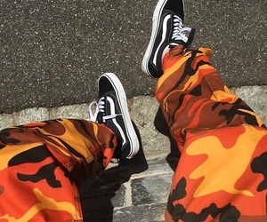 vans, orange, and style image