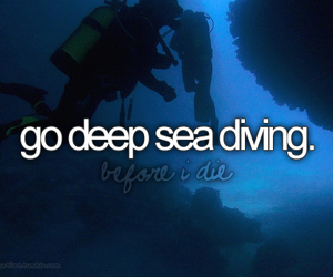 sea diving and love image