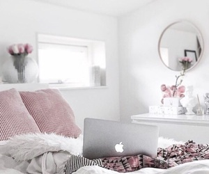 bed, home, and macbook image
