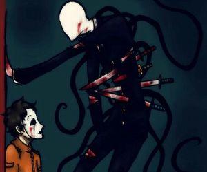 slenderman and masky image