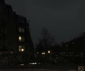black, city, and night image
