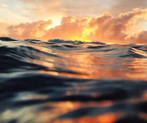 nature, ocean, and clouds image
