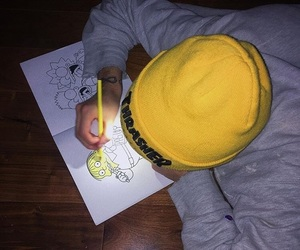 boy, drawing, and draw image