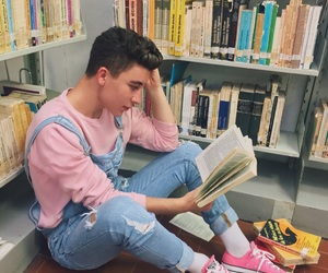 books, vintage, and boys image