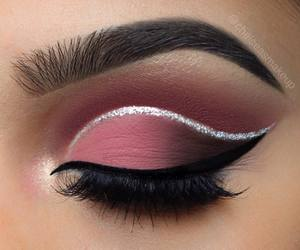 eyeliner, eye, and lashes image