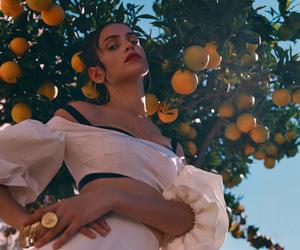 orange, fashion, and fruit image