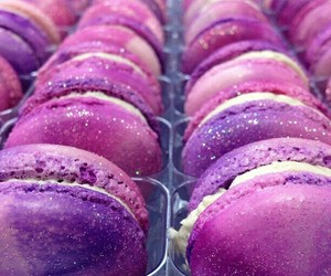 macaroon, purple, and gitter image