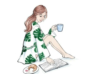 book, wake up, and breakfast image