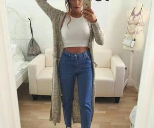 crop, girl, and shirt image