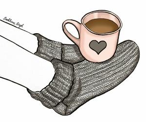 dibujo, love it, and warm socks image