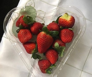 strawberry, aesthetic, and fruit image