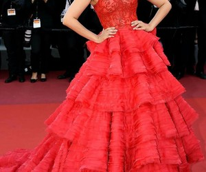 cannes, red, and dress image