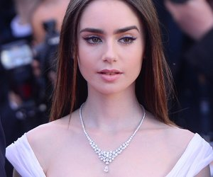 lily collins, beauty, and cannes image