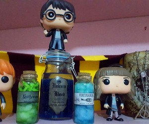 deathly hallows, harry potter, and unicorn blood image