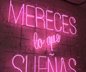 Dream, pink, and neon image