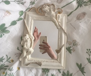 aesthetic, mirror, and white image
