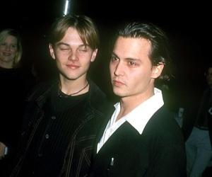 johnny depp, Leo, and vintage image
