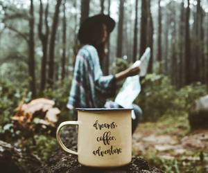 coffee, girl, and adventure image