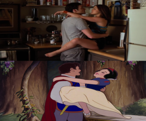 couple, disney, and drawing image