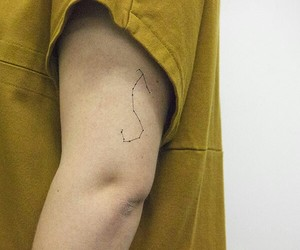 october, star sign, and fine line tattoo image