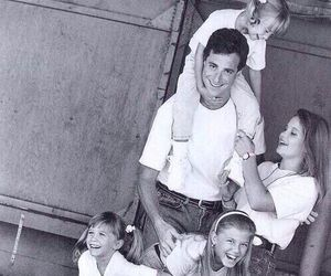 full house, black and white, and family image