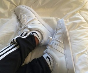 adidas, nike, and white image