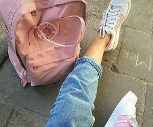 pink, adidas, and aesthetic image