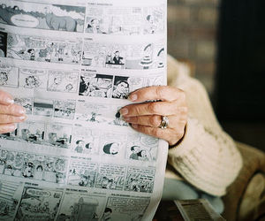 newspaper, photography, and comics image